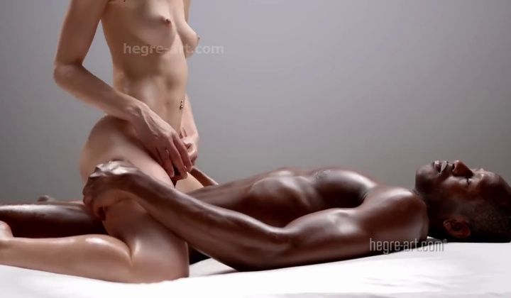 Blowjob - Girl Gives A Massage To A Black Guy